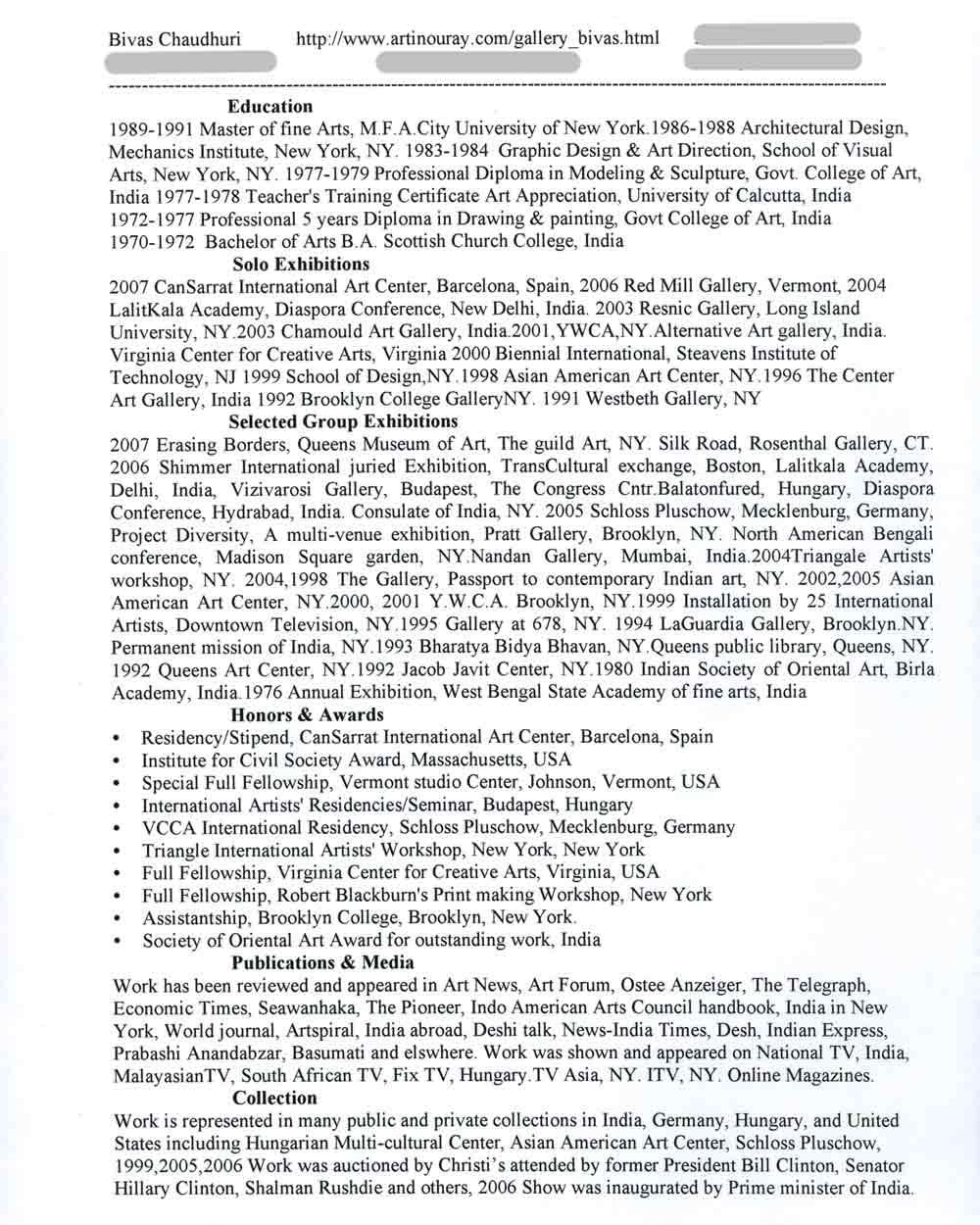 Bivas Chauduri's Resume, pg 1